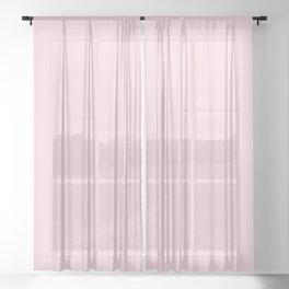 Millennial Pink Solid Blush Rose Quartz Sheer Curtain