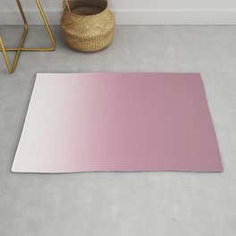 Smoky pink ombre . Rug