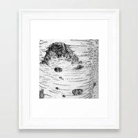 birch Framed Art Prints featuring BIRCH by Kjellin