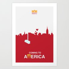 Coming to America - minimal poster Art Print