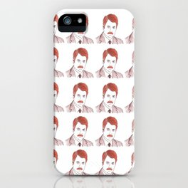 """Ron Swanson """"Diptych"""" iPhone Case"""
