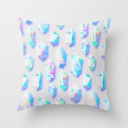 Iridescent Rainbow Crystals Throw Pillow