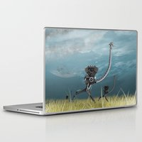 runner Laptop & iPad Skins featuring Runner by Tony Vazquez
