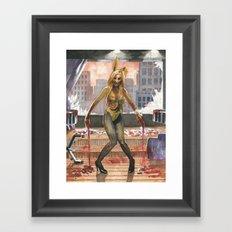 Amelia Talon's Bunny Zombie Pin-up of Horror Framed Art Print