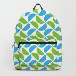 HALF-CIRCLES, GREEN AND BLUE Backpack