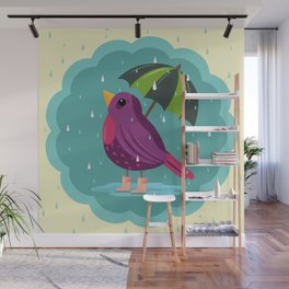 Rainy Days Are Still Good Days Wall Mural