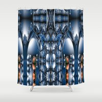 blade runner Shower Curtains featuring Blade Runner by Robin Curtiss