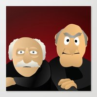 blair waldorf Canvas Prints featuring Statler & Waldorf - Muppets Collection by Bryan Vogel