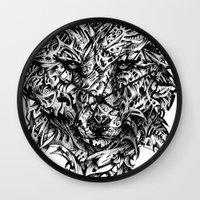 hunter x hunter Wall Clocks featuring Hunter by René Campbell