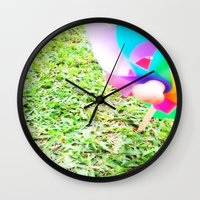 plain Wall Clocks featuring Plain Sight by Rachel