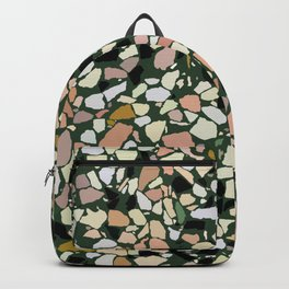 Pink and Green Terrazzo Backpack