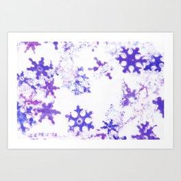 Icy Christmas Art Print