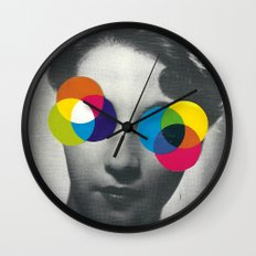 Psychedelic glasses Wall Clock