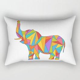 Big, bright, and colorful elephant - polychromatic animal Rectangular Pillow