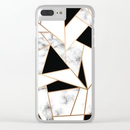 Marble III 003 Clear iPhone Case