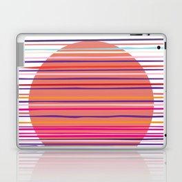 Sunset colorful stripes and sun pattern Laptop & iPad Skin