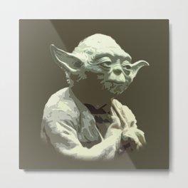 Yoda Metal Print