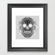 Black skull Framed Art Print