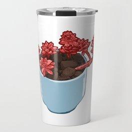 Beautiful Succulent Plant Travel Mug