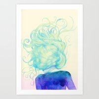 storm Art Prints featuring Storm by Natalie Foss