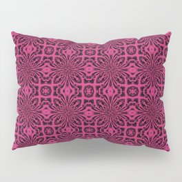 Pink Yarrow Geometric Floral Abstract Pillow Sham