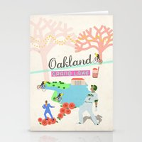 oakland Stationery Cards featuring Oakland by June Chang Studio