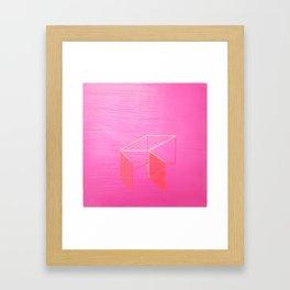Little Boxes Exploded fuchsia & gold Framed Art Print
