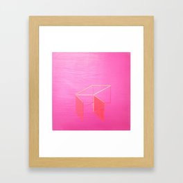 Little Boxes Exploded fuchsia & gold Framed Art Print