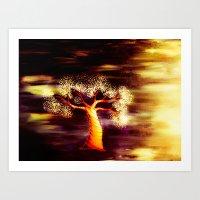Vibrant Tree Art Print