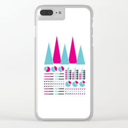 Infographic Selection Clear iPhone Case