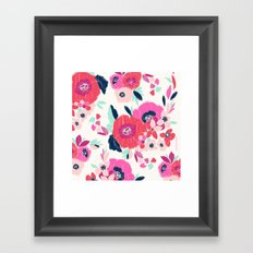 Janis Floral White Framed Art Print