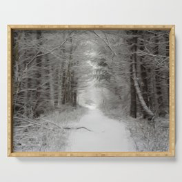Winter woodlands Serving Tray