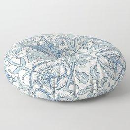 William Morris Beautiful floral pattern, blue,rose,william Morris pattern, art nouveau pattern Floor Pillow