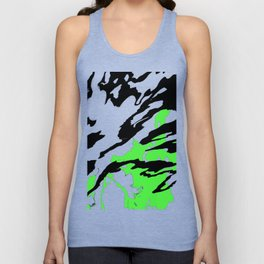 Green and Black Unisex Tank Top