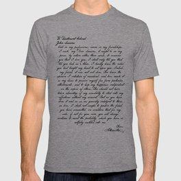 Alexander Hamilton Letter to John Laurens T-shirt