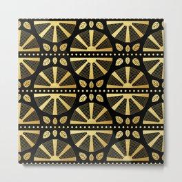 Luxe Art Deco Fan Metal Print