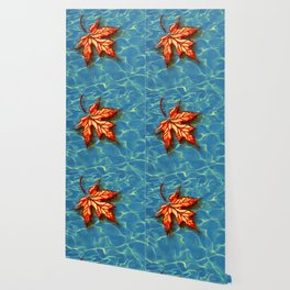 Wet Maple Leaf Wallpaper