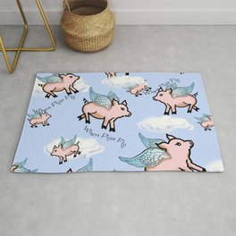 When Pigs Fly 2 Rug