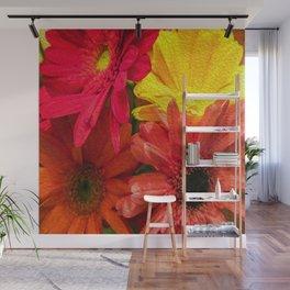 Sunny Daisy Flower Art Wall Mural