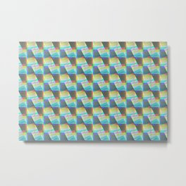 Monochromatic Tile Shape pattern  Metal Print
