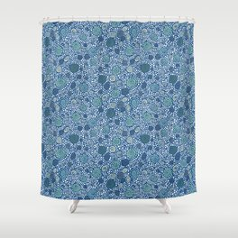 Pebbles and Shells Shower Curtain