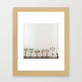 Candlesticks Framed Art Print