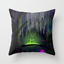 Frogs on a log Throw Pillow