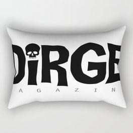 Dirge mens black logo Rectangular Pillow