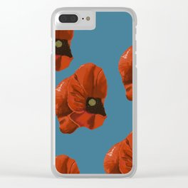 big poppies Clear iPhone Case