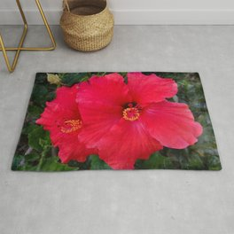 Hibiscus Red Rug