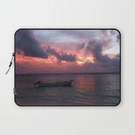 Ha'atafu Beach sunset Laptop Sleeve