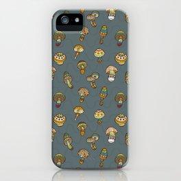 Hallucinogenic mushrooms iPhone Case