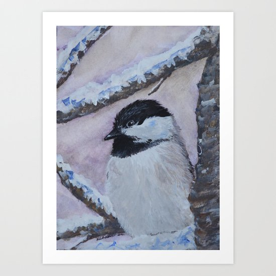 Maine Chickadee Art Print