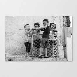 Just kids playing Canvas Print
